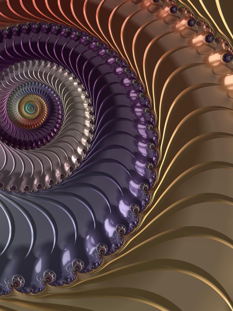 Rainbow Anodized Spiral