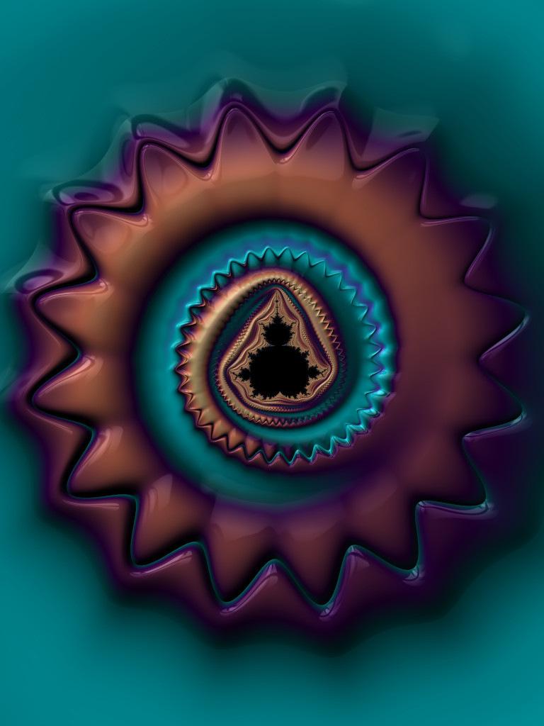 Mandelbrot Medallion (Alternate)