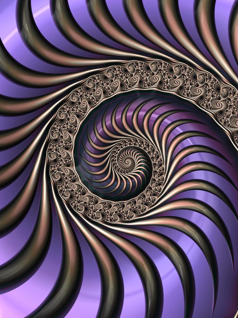 Striped Spiral I