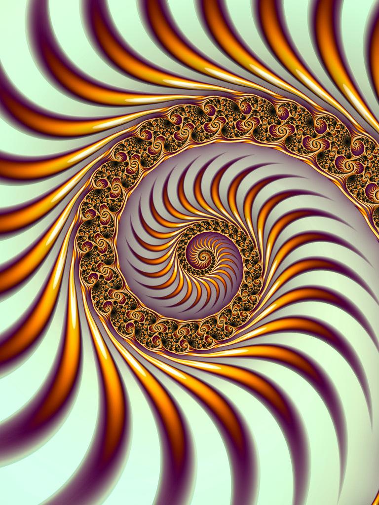 Striped Spiral II