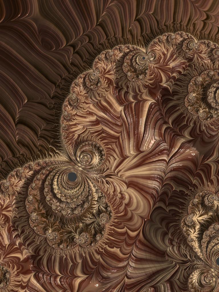 Spirals of Creamy Golden Chocolate