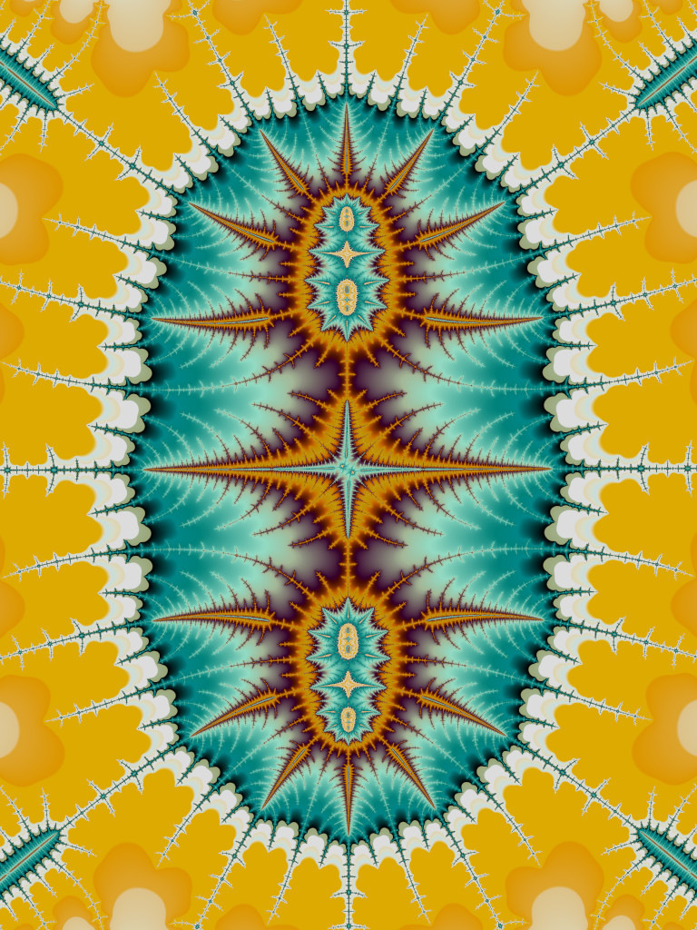 Groovy Teal And Sunshine Yellow Things